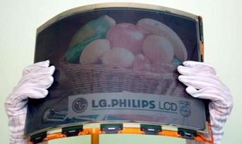 LG desarrolla la primera pantalla A4 de color y flexible
