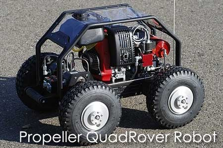 (Video) Propeller QuadRover Robot