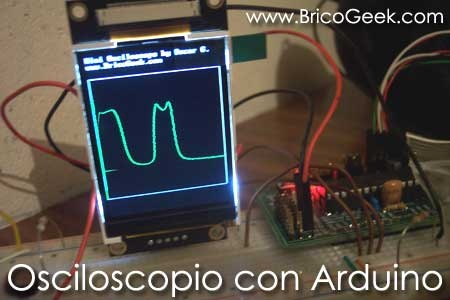 (Video) Osciloscopio con Arduino y pantalla gráfica LCD