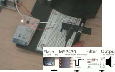 (Video) C�mo reproducir sonidos reales en un MSP430