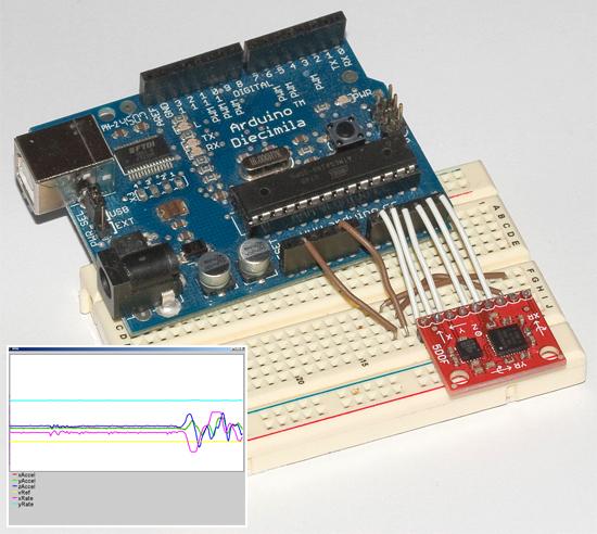 Sistema de medici�n inercial con Arduino y Processing