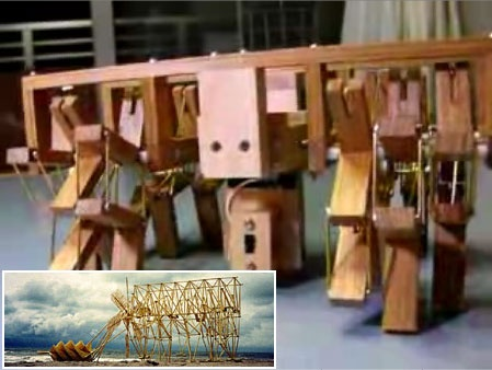 "(Video) Robot de Theo Jansen ""StrandBeest"" casero"