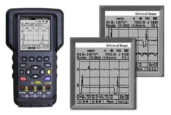 Osciloscopio de mano de 2 canales PCE-OC 1