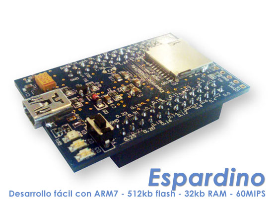 Espardino: Plataforma de desarrollo fcil con ARM7
