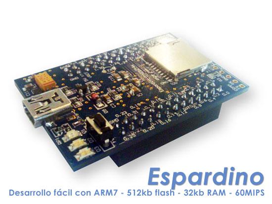 Espardino: Plataforma de desarrollo f�cil con ARM7