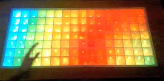 Mesa de salón RGB con Arduino y TLC5940