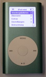 iPod mini anodizado.