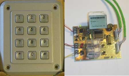 Control de acceso casero con teclado matricial y PIC18F452