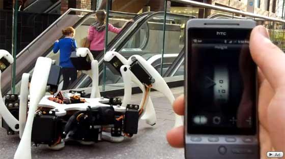Robot hexápodo controlado con Android