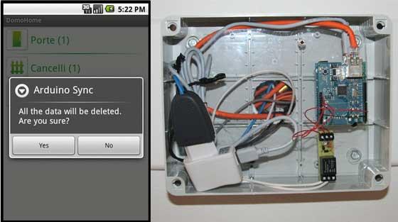 Control dom�tico con Arduino y Android
