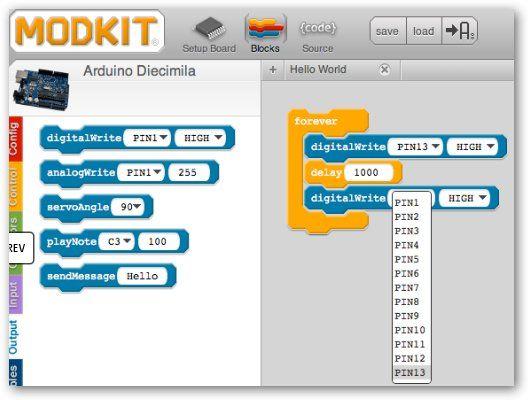 ModKit: Entorno de programaci�n gr�fica para arduino!