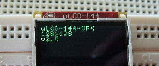 Ejemplo con Arduino y pantalla uLCD-144