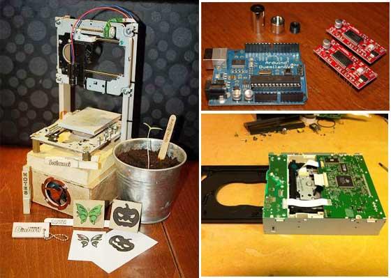 Grabadora l�ser casera con Arduino