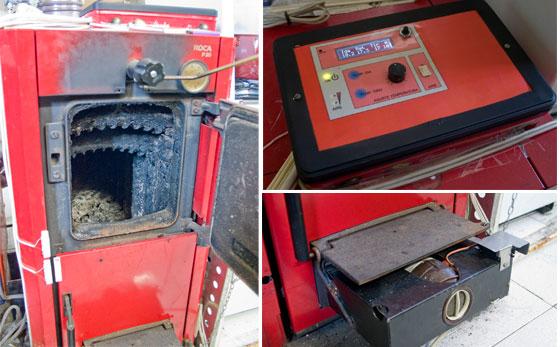 Control electr�nico de caldera de le�a con Arduino