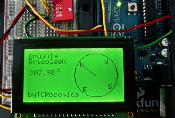 Tutorial arduino brújula digital con hmc bricogeek