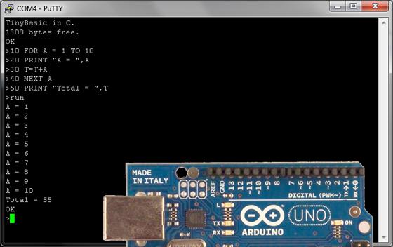 Int�prete de BASIC para Arduino