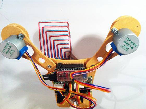 GarabatoBOT: Un robot dibujante impreso con MakerBot