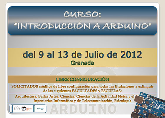 Curso de introducci�n a Arduino en Granada