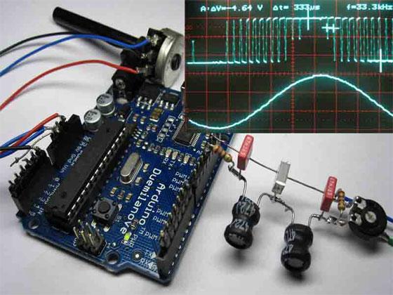 Generador de onda sinusoidal DDS con Arduino