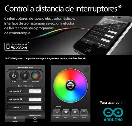 Cromalight una app para controlar interruptores a