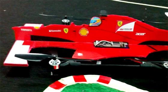 Quadcopter convertido en Formula 1
