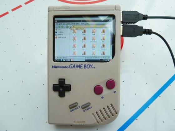 The gamepi case mod con raspberry pi y game boy