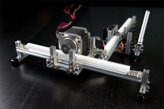 Plotter polar con arduino html y makerbeam bricogeek