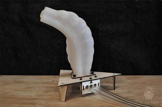 Tent�culo rob�tico de silicona