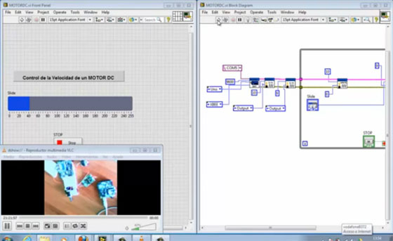 Control inal�mbrico de motor con Arduino y LabVIEW