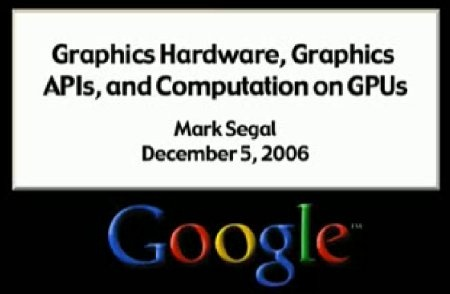 (Video) Presentaci�n de Google sobre DX10 y GPU