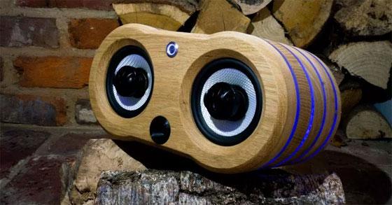 Altavoces Bluetooth caseros con madera de roble blanco