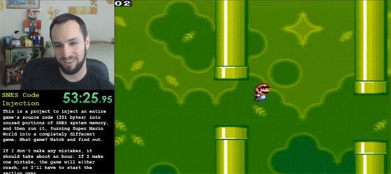 Inyecci�n de codigo en SNES para jugar a Flappy Bird