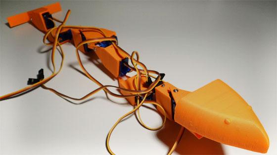 C�mo hacer un robot serpiente impreso en 3D