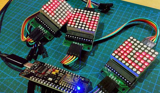 C�mo controlar matrices LED MAX7219 con ESP8266-12E