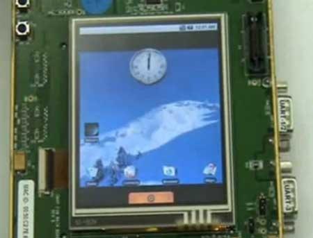Android funcionando en una placa OMAP3 EVM