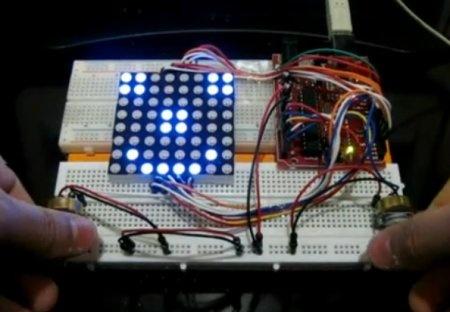 Juego Pong con matriz de LED 8x8