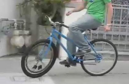 Bicicleta equilibrada con un giroscopio