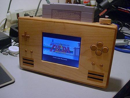(Video) SNES Portable casera con caja de madera