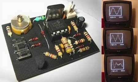 Osciloscopio con PIC12F675 y pantalla de televisión