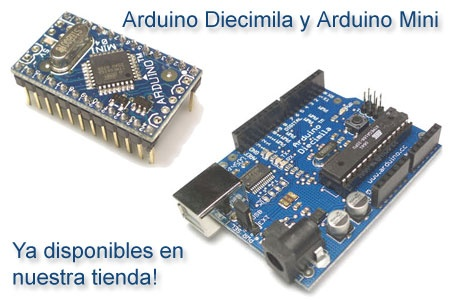 Arduino Diecimila y Arduino Mini ya disponibles