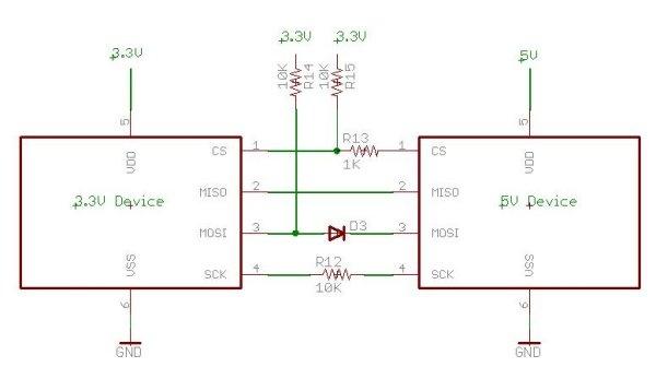 Tutorial: Cómo conectar un dispositivo 3.3V a uno de 5V