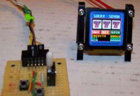 Máquina tragaperras con Basic Stamp y pantalla OLED