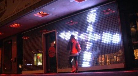 La Vitrine: Pantalla gigante de LED interactiva