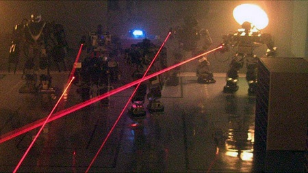 (Video) Combate de robots con laser