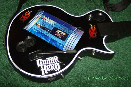 (Video) Guitarra Guitar Hero con Pantalla LCD