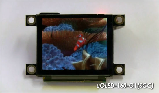 4D Systems uOLED-160-G1(SGC) con FAT Controller