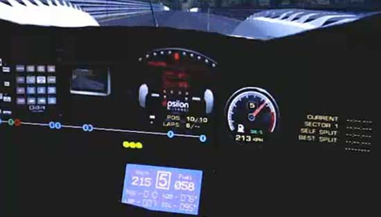 Visualizador RFactor con pantalla LCD