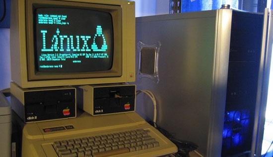Linux Gentoo funcionando en un Apple IIe