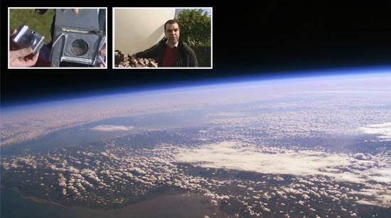 Imagenes caseras desde la estratosfera con un globo