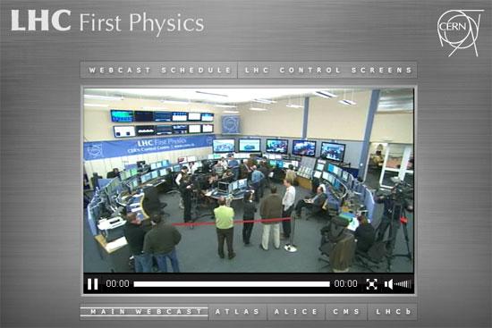 El experimento del CERN en directo online